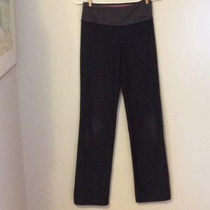 Nike Dri Fit Ideal Leggings Black & Grey Small